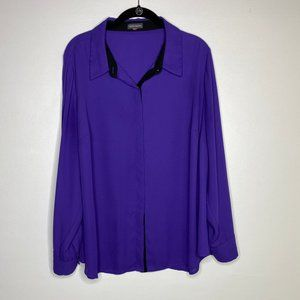 Vince Camuto Purple Sheer Blouse